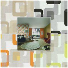 Novara - Retro Trippy Wallpaper - 4 COLOURS - Textured - Easy Paste The Wall  | eBay