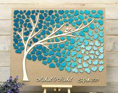 Custom colors Wedding guest book alternative von HAPPYprojectSHOP