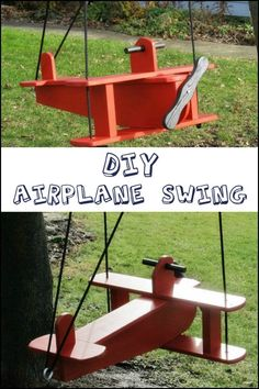 Up, up and away! This DIY airplane swing could be one of the coolest things to build for your kids!