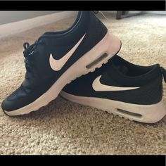 newest ff518 8b59e Nike Shoes   Nike Airmax Thea   Color  Black White   Size  8