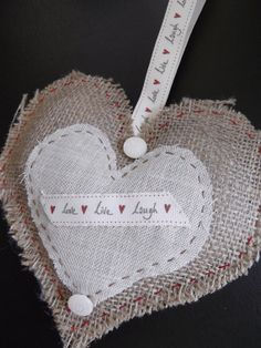 Hey, I found this really awesome Etsy listing at https://www.etsy.com/listing/159707144/shabby-chic-hessian-hanging-heart