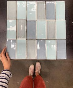 """TileCloud on Instagram: """"Avalon mix in blue, created with subway tiles 🥰🥰🥰 Where would you put these? Bathroom? Laundry? Kitchen? #bluetiles #subwaytile"""""""