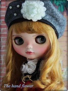 OOAK Custom Original Takara Blythe doll Base Doll:Neo Blythe | Etsy Innocent Girl, Hand Flowers, Natural Eyelashes, Sewing Dolls, Big Eyes, Blythe Dolls, New Shoes, New Dress, Carving