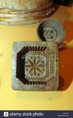 Old Wooden Polish Butter Mold Stock Photo, Royalty Free Image: 13277489 - Alamy Cheese Mold, Springerle Cookies, Sugar Mold, Butter Molds, Churning Butter, Chip Carving, Wax Stamp, Baking Tins, Candy Molds