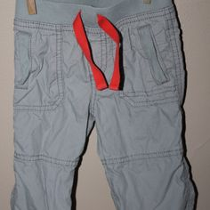 Lined cargo pants, 6-12 months