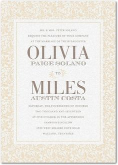 Cluster of Flowers - Shimmer Wedding Invitations - Allie Munroe - Storm - Gray : Front