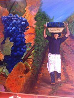 Cuadro de nuestra maestra Isabel Gallardo Codelia, Serie Viñas de Chile.