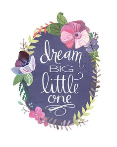 This print is just perfect for a little girls nursery or bedroom. All elements are hand painted/hand lettered before being digitally arranged. I use