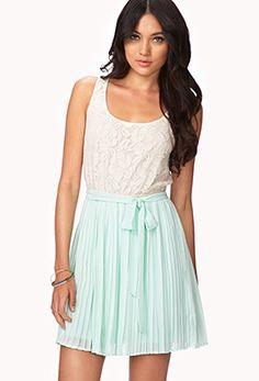 Mint combo dress