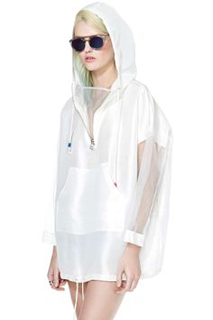To Be Adored Elin Silk Hoodie | Shop Swim City at Nasty Gal