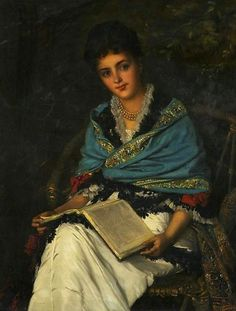 Portrait of a Lady - William Oliver  1877 ~Repinned Via maria russi http://fleurdulys.tumblr.com/image/42749069329