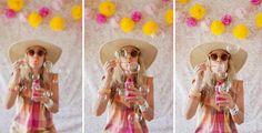INSPIRATION ■ Une belle idée pour un photomaton sur le thème de la plage, l'été... les bulles !