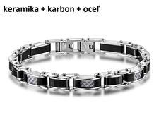 CYBORG - pánsky náramok - keramika + karbon + oceľ, 21cm Bracelets, Jewelry, Luxury, Jewlery, Bijoux, Jewerly, Bracelet, Bangles, Jewelery