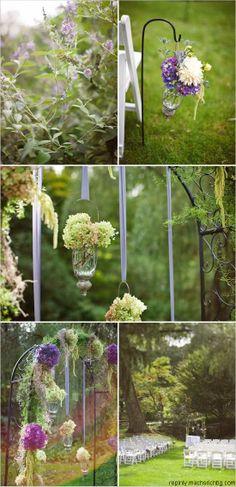 Muy romántica y especial el escenario de una boda en este jardín ¿No os parece? #bodas #ideas #Innovias