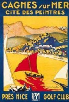 Affiches Cagnes-sur-Mer     * Sud-est de la France située sur les rives de la mer Méditerranée, entre Saint-Laurent-du-Var et Villeneuve-Loubet  #Alpes-Maritimes #Provence-Alpes-Côte d'Azur  Métropole Nice-Côte d'Azur