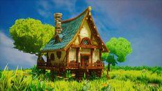 Unreal Engine 4 stylized environment rendering. by Berker Siino on ArtStation.