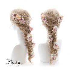 Gallery 224  Order Made Works Original Hair Accessory for WEDDING  #アンティーク & #ナチュラル な 雰囲気の #小花 でまとめた #ラプンツェル ふう仕上げ #♡  さりげなく覗く #パール が #素敵 #☆   #結婚式 #前撮り #オーダーメイド #カラードレス #髪飾り   #花飾り #造花 #ヘアセット #ヘアアレンジ #フィッシュボーン #花嫁 #ドレス   #hairdo #flower #hairaccessory #picco #kimono #wedding #bridal #dress #rapunzel #princess  Twitter , FACEBOOKページ始めました→「picco」で検索 いいね、フォロー宜しくお願いします。