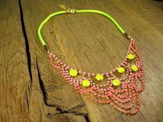Elegant Lace Drape Necklace in Gold Plating by rockspapermetal, $125.00