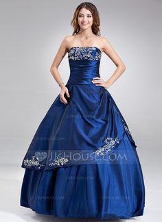 Quinceanera Dresses - $168.89 - A-Line/Princess Strapless Floor-Length Taffeta Quinceanera Dress With Embroidered Ruffle Beading (021017120) http://jjshouse.com/A-Line-Princess-Strapless-Floor-Length-Taffeta-Quinceanera-Dress-With-Embroidered-Ruffle-Beading-021017120-g17120?snsref=pt&utm_content=pt