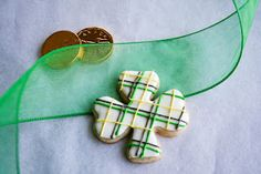 Tartan cookie for St Patrick's Day