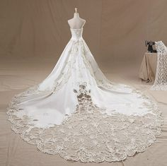 Wedding dress Pure handmade lace Bridal Ball gown wedding by Tiamodress, $309.00