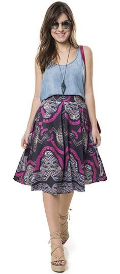 A saia midi é peça chave para quem curte o estilo ladylike!