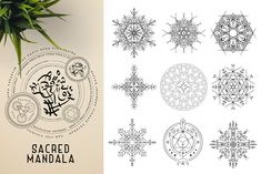 This bundle contains 300 unique vector Black & White mandala designs (some have clean lines and some have an organic look to have a more hand made feel to it) - Geometric Tattoo Sleeve Designs, Sacred Geometry Symbols, Relaxation Meditation, Butterfly Template, Indian Mandala, Paper Ornaments, Ancient Civilizations, Paper Texture, Mandala Design