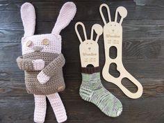 Wooden baby sock blockers / Bunny