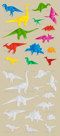 Origami Dinosaurs Collection $4.00