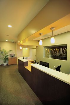 A+ Family Dentistry Reception Area. www.aplusfamilydentistry.com