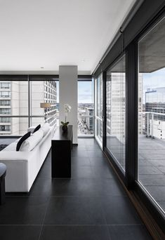 love the bold black & white interiors LEMAYMICHAUD Architecture Design have designed the Germain Hotel in Calgary, Canada.///////www.bedreakustik.dk/home DISCOUNT TO PINTEREST CUSTOMERS Dedicated to deliver superior interior acoustic experience.#pinoftheday///////
