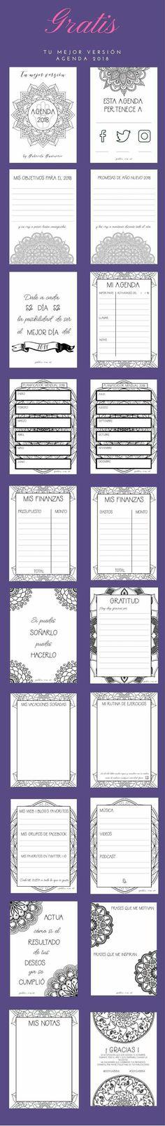 Planea tus objetivos financieros y vive tu mejor versión. Agenda gratis 2018 con mandalas para colorear . Coaching para mujeres que quieren vivir su mejor versión