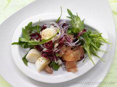 Arugula Radicchio Salad  with scallops and grapefruit ≈