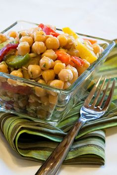 This delicious salad pairs garbanzo beans with bell peppers, red onions and more. The parsley adds freshness and the Dijon mustard used in t...