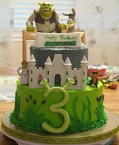 Marvelous 82 Best Shrek Cakes Images Shrek Cake Shrek Cupcake Cakes Funny Birthday Cards Online Benoljebrpdamsfinfo