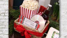 "CUTE ""Movie Night"" gift basket"