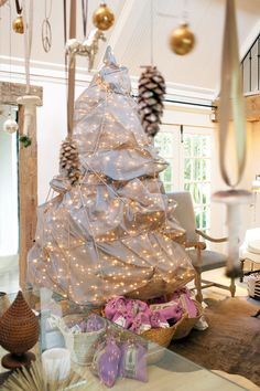 wrapped Christmas tree by Jill Sharp Brinson