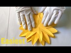 DIY paper Sunflower flower for wall backdrop decoration arts and crafts paper flowers easy for kids Paper Sunflowers, Easy Paper Flowers, Diy Flowers, Flowers Vase, Crepe Paper Crafts, Paper Crafts For Kids, Diy Crafts, Tissue Paper, How To Make Sunflower