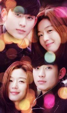 My love from another star Ahn Jae Hyun, Jun Ji Hyun, Drama Korea, Korean Drama, Kim Bok Joo Wallpaper, Kim Song, Fated To Love You, My Love From Another Star, Poster Boys