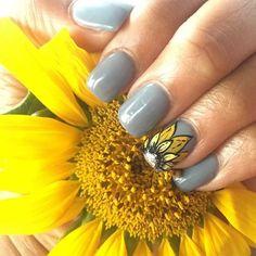Day 78: Sunflower Nail Art