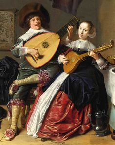 Molenaer, Jan Miense THE DUET A SELF PORTRAIT OF THE ARTIST WITH HIS WIFE, JUDITH LEYSTER, PROBABLY THEIR MARRIAGE PORTRAIT  (detail)