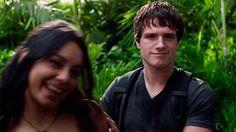 Josh Hutcherson♥, Journey 2 Set with Vanessa Hudgens