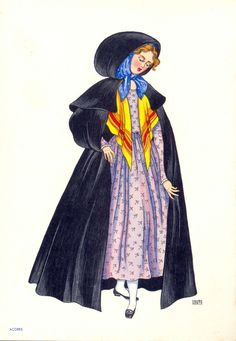 Folk costumes - Page 14 Portuguese Culture, Visit Portugal, Folk Costume, My People, Fashion History, Traditional Dresses, Vintage Posters, Female, Style