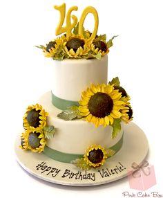 Valerie's 40th Sunflower Birthday Cake!  #cake #birthday