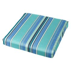 A plush addition to your deck and patio setup, this Cushion Source 20 x 18 in. Striped Sunbrella Chair Pad is offered in your choice of available. Outdoor Chair Cushions, Deck Chairs, Slipcovers For Chairs, Seat Cushions, Outdoor Chairs, Outdoor Blanket, Indoor Outdoor, Cushion Source, Deck Furniture