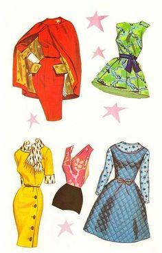 Brenda Starr5 | Isabel Santos Pilot | Flickr Paper Dolls Clothing, Barbie Paper Dolls, Vintage Paper Dolls, Vintage Sewing, Doll Clothes, Diy Paper, Paper Art, Paper Crafts, Free Paper