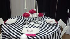 Nontraditional table setting. Love the bride and groom wire!