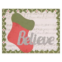 A memorable Christmas card is easy to achieve with the Tag & Holiday Words 2-die set.