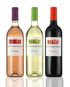 Domaine le Nouveau Monde wine label design