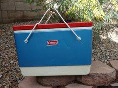 Retro Vintage Coleman Cooler  Red White and Blue - Very Patriotic - Rare Color Scheme